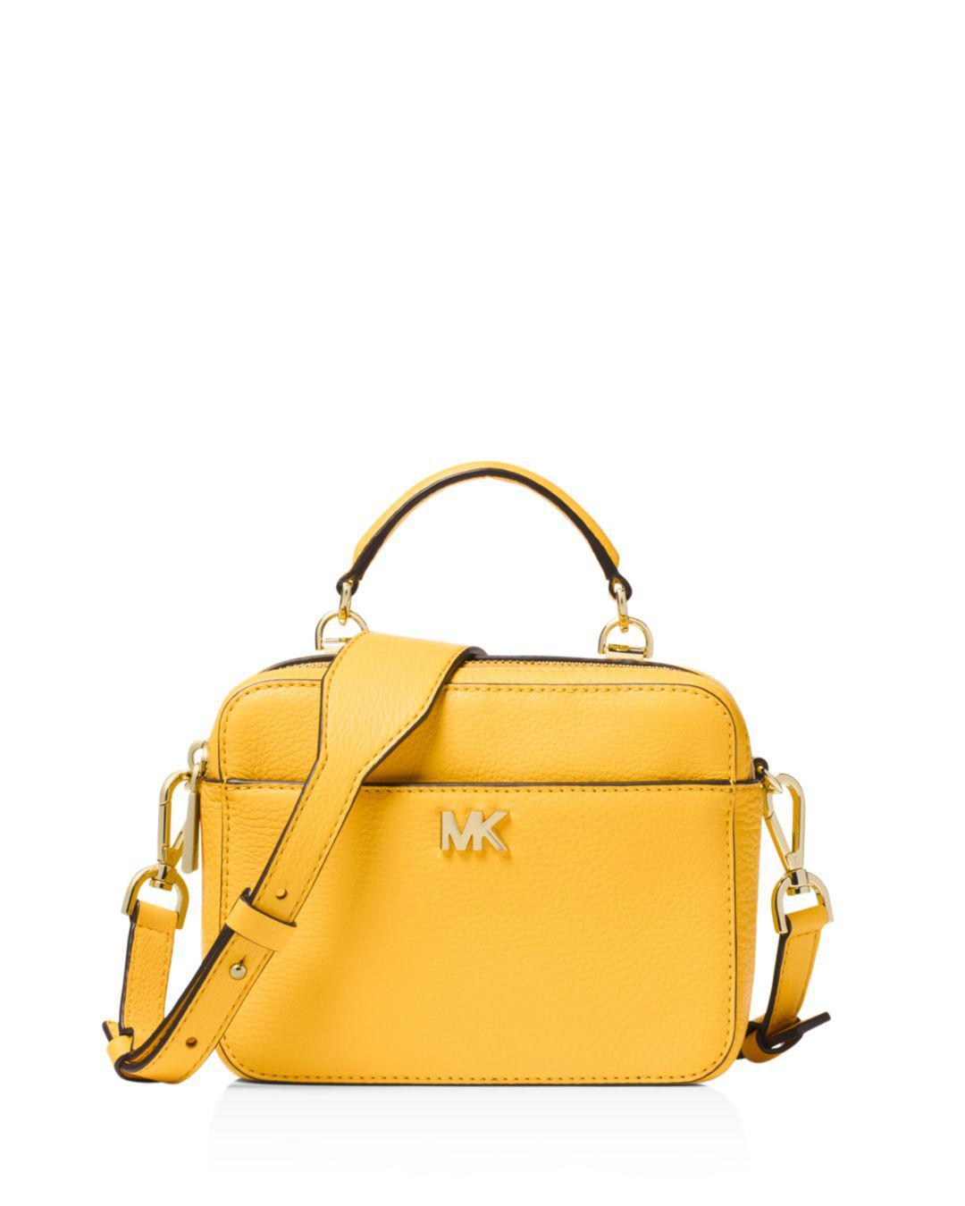 fdc4c51903 Lyst - Michael Michael Kors Leather Crossbody in Yellow