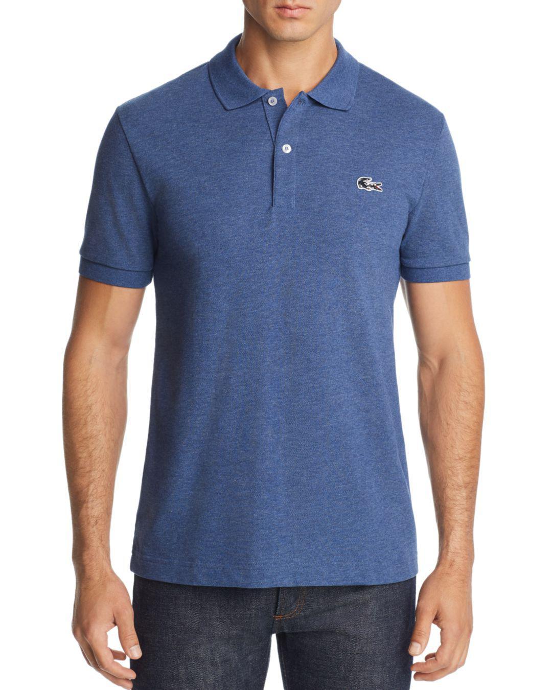b3b6c279c51 Lyst - Lacoste Camouflage Crocodile Logo Polo Shirt in Blue for Men