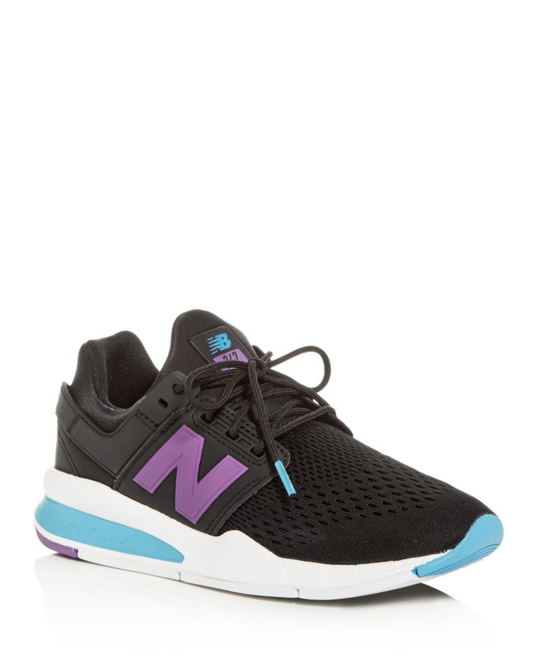 buy popular 22564 7a290 New Balance. Black Women s 247 Tritium Lace Up Trainers