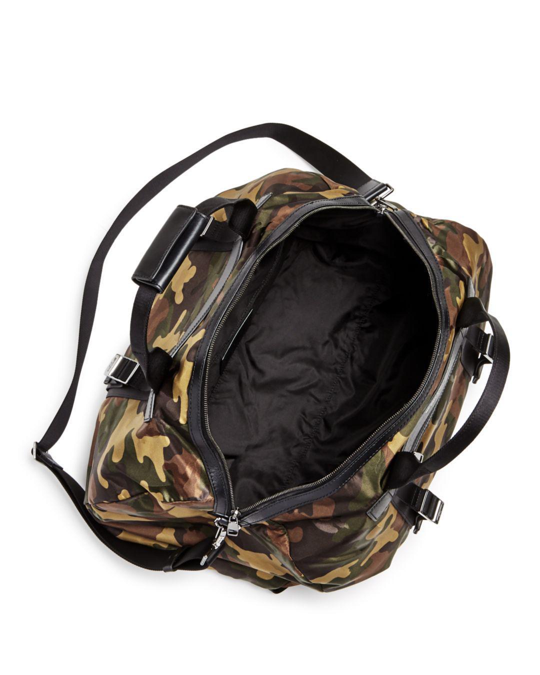 6c3498d1191bd Lyst - Michael Kors Kent Camo-print Nylon Convertible Duffel Bag in Green  for Men
