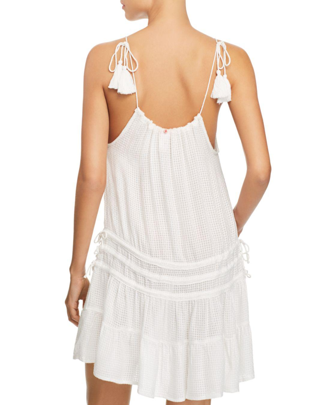 bc377f8f8a Lyst - Red Carter Amazon Jungle Drawstring Dress Swim Cover Up in White