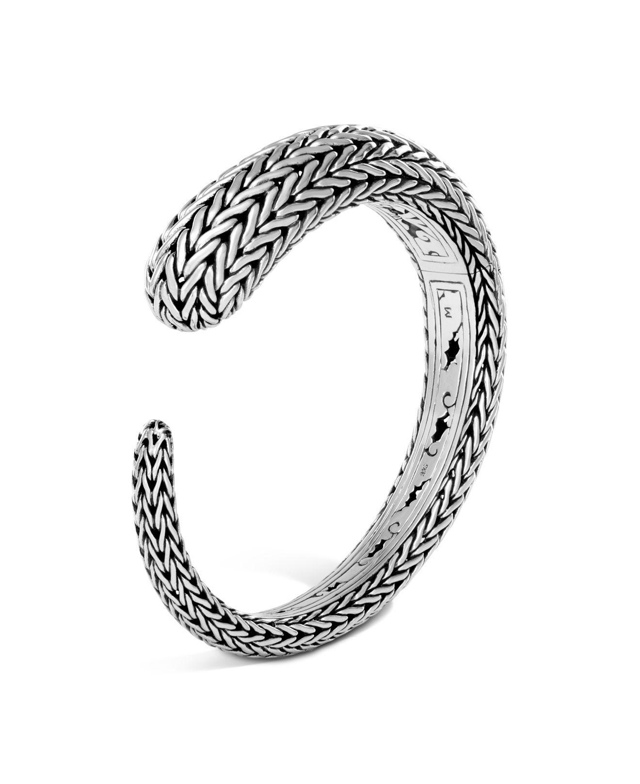 John Hardy Classic Chain Wave Kick Cuff Bracelet frcossA8o7
