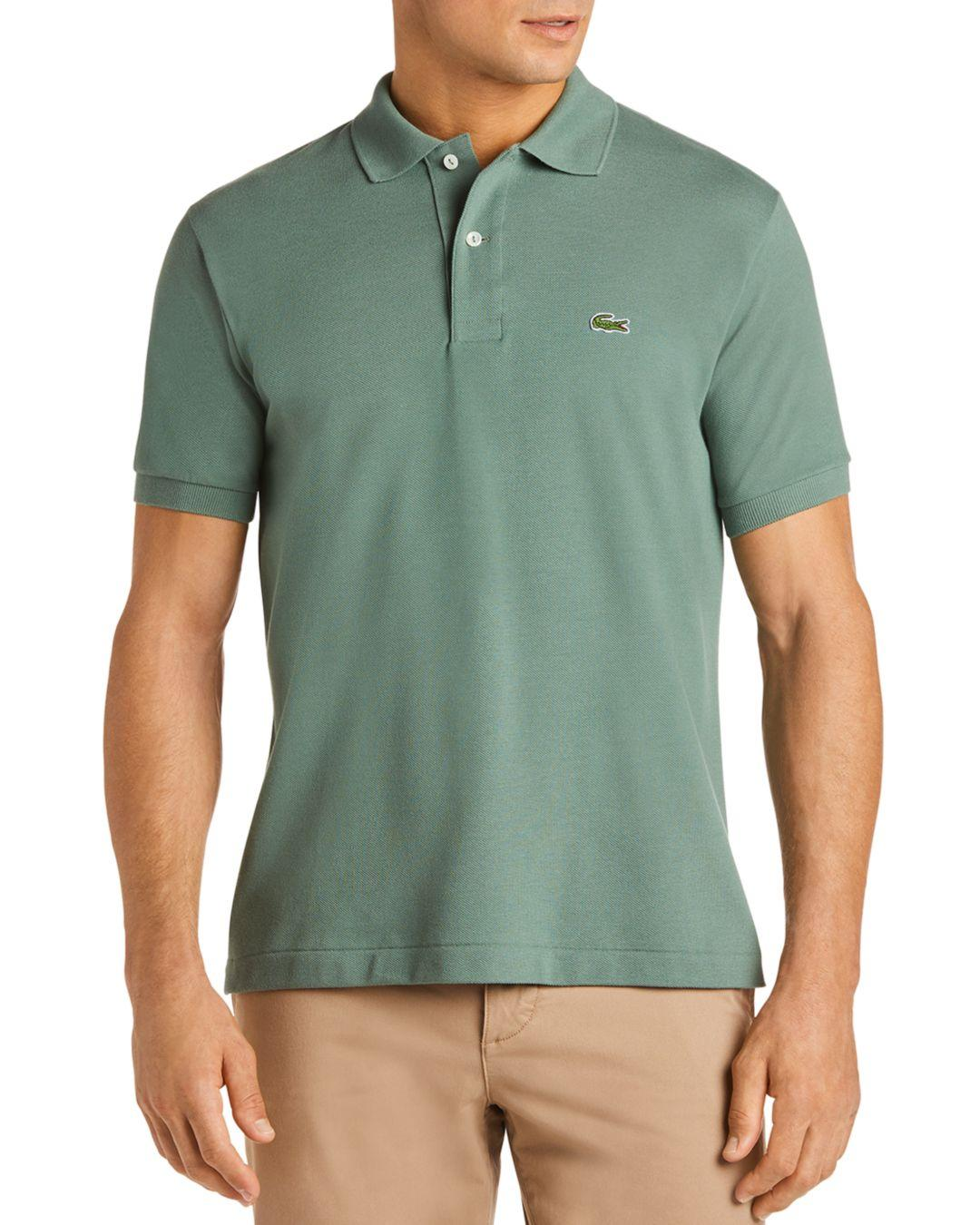 866359a9 Lyst - Lacoste Pique Polo - Classic Fit in Green for Men