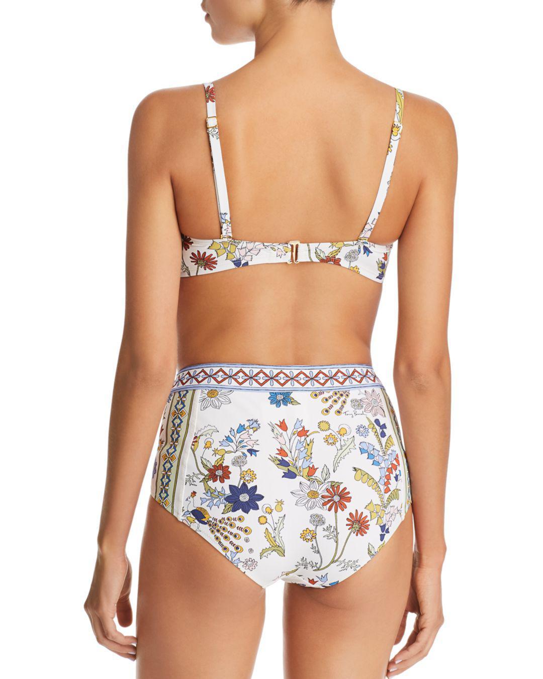 a09b3a5ce495 Tory Burch - Multicolor Meadow Folly High-waist Bikini Bottom - Lyst. View  fullscreen