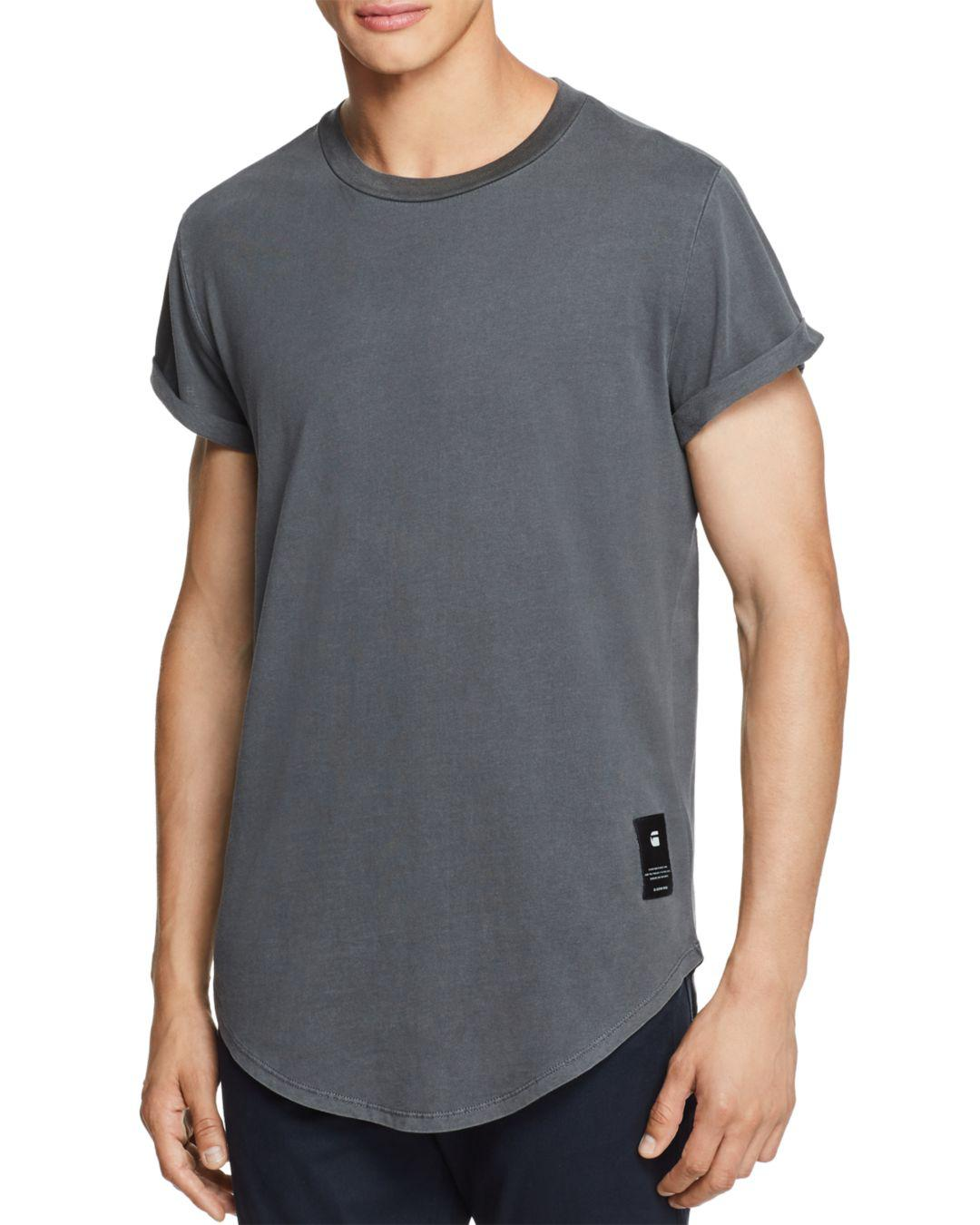0257ad9fbe3 G-Star RAW Shelo Relaxed Crewneck Tee in Black for Men - Lyst