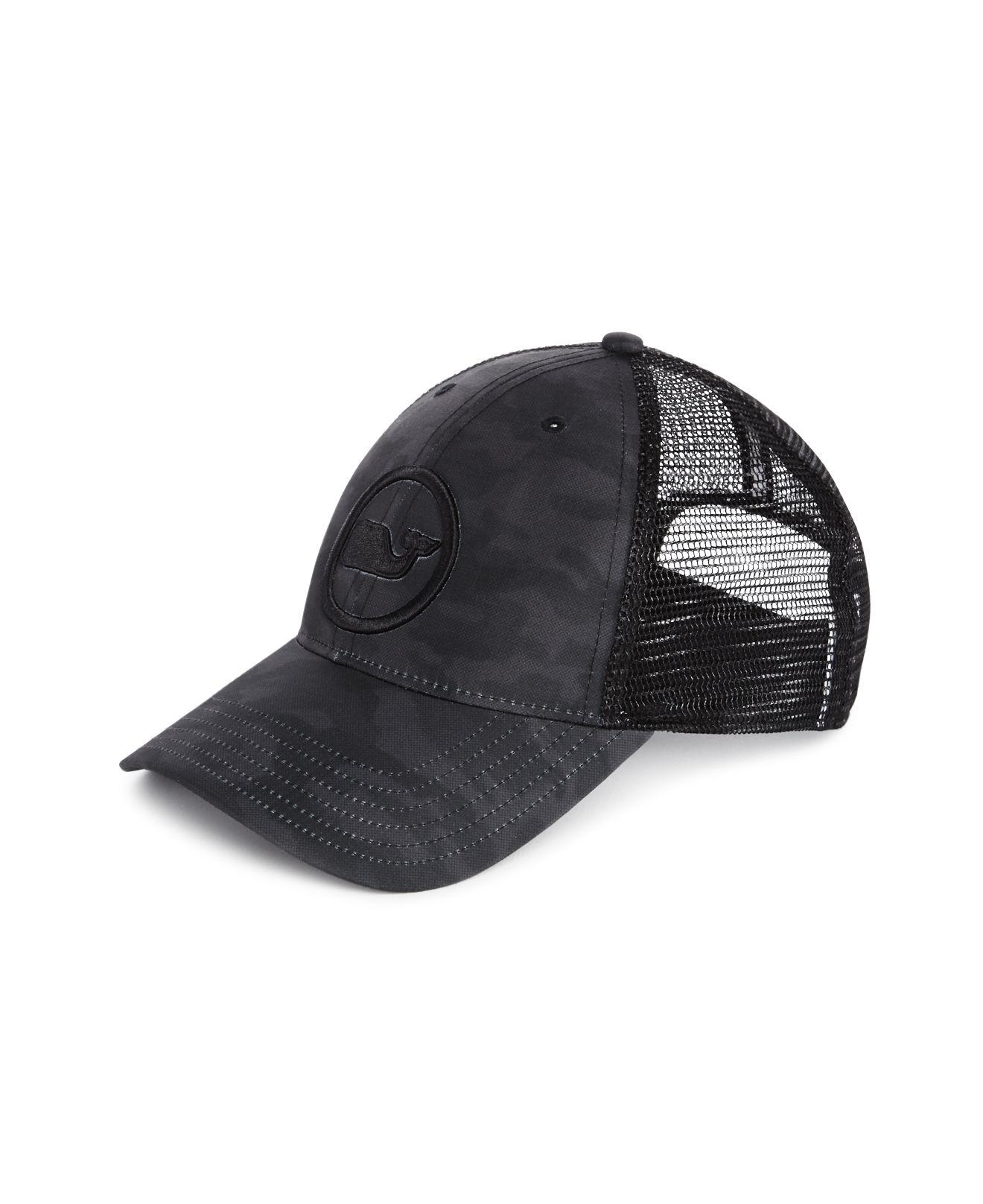 224579fe683da Vineyard Vines Camouflage Trucker Hat in Black for Men - Lyst