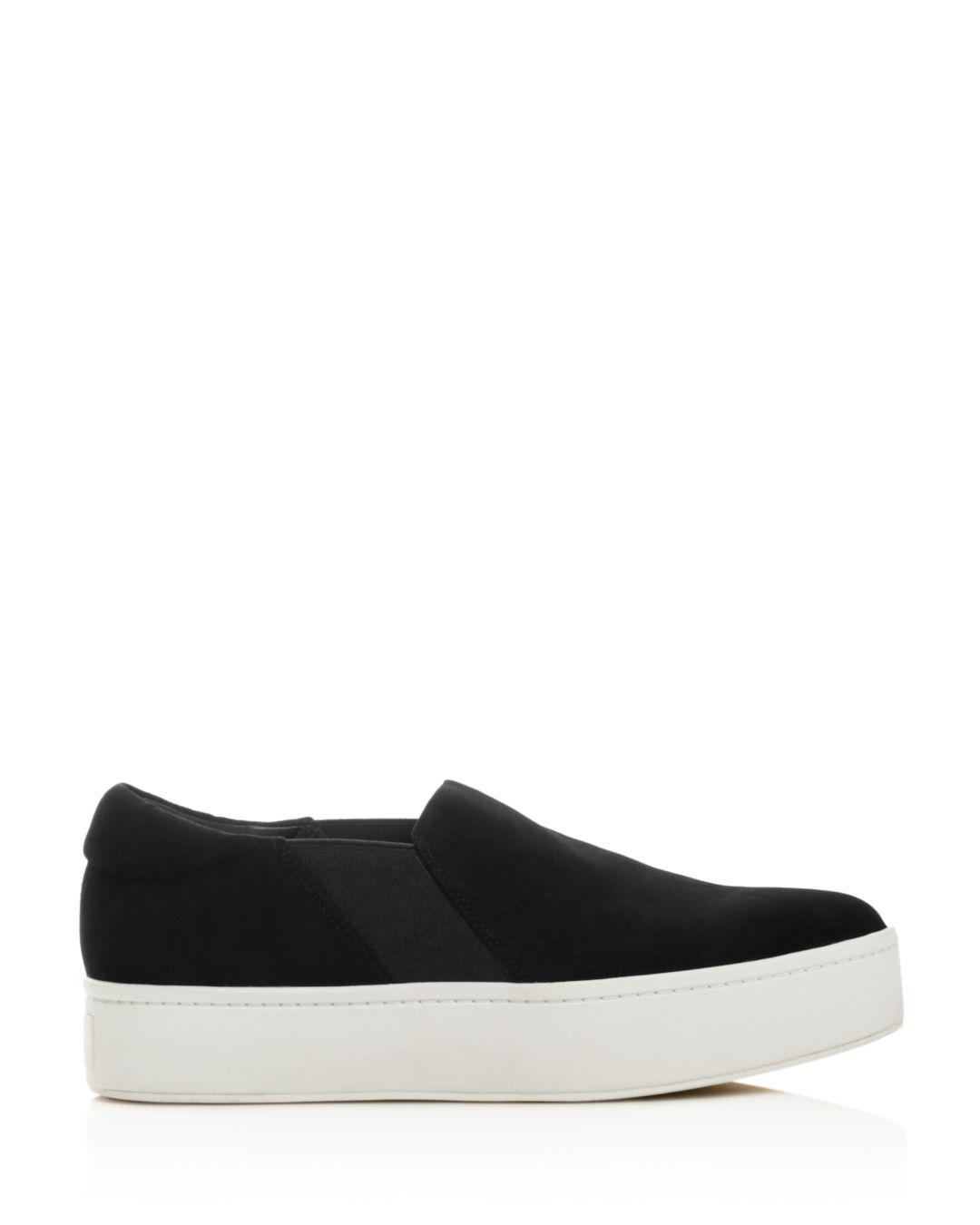 e1bc2d5bad3 Lyst - Vince Warren Suede Platform Slip-on Sneakers in Black