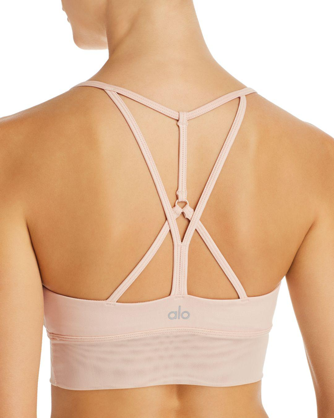 393d5292923b8 Lyst - Alo Yoga Lush Longline Bralette in Natural