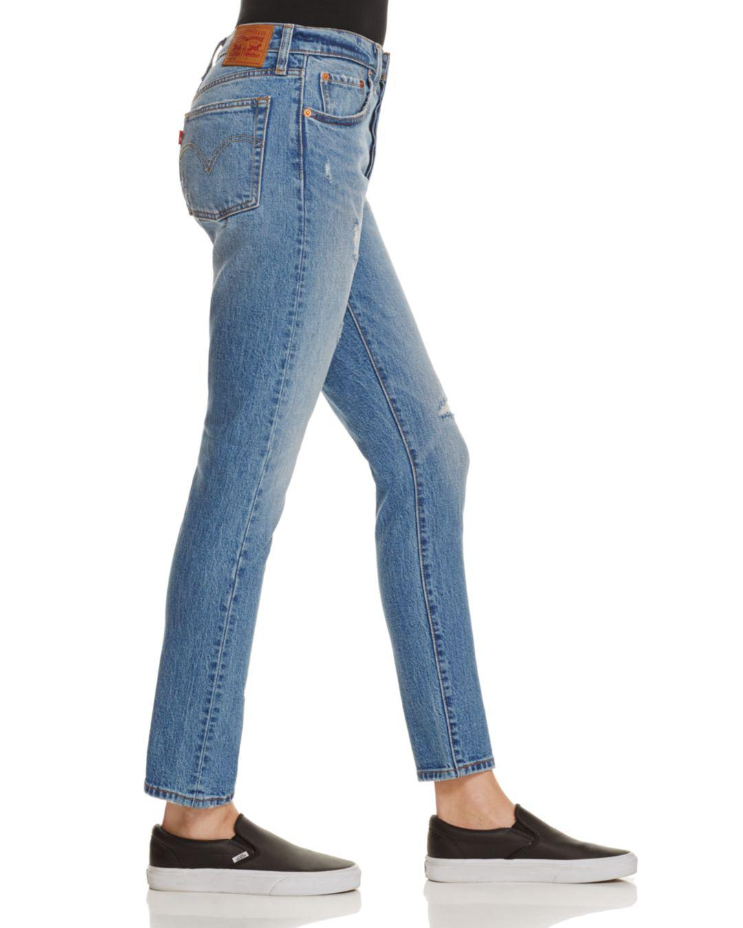 ce306bfbc07c7 Lyst - Levi s 501® Distressed Skinny Jeans In Post Modern Blues in Blue