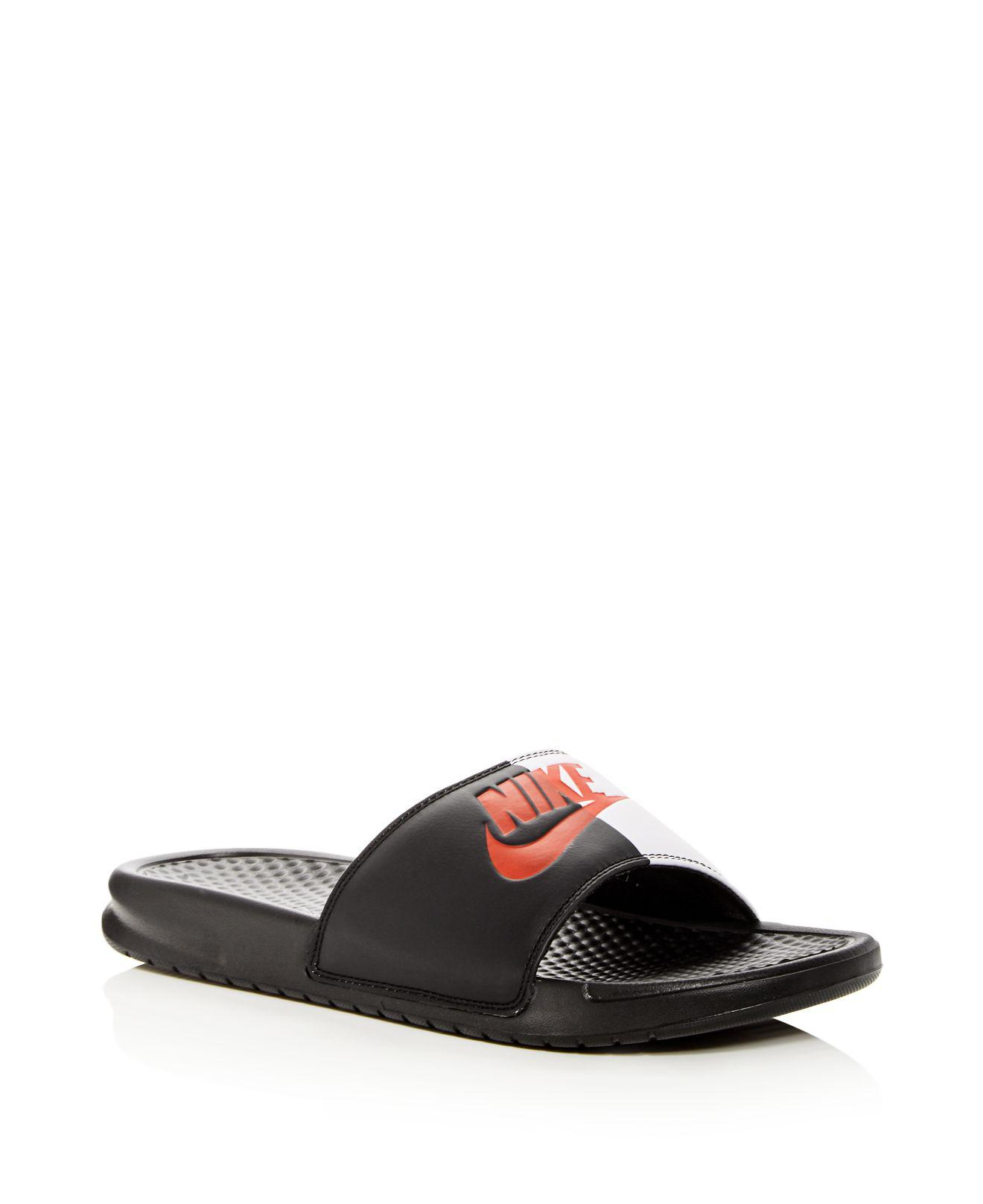 Nike. Black Men's Benassi Slide Sandals