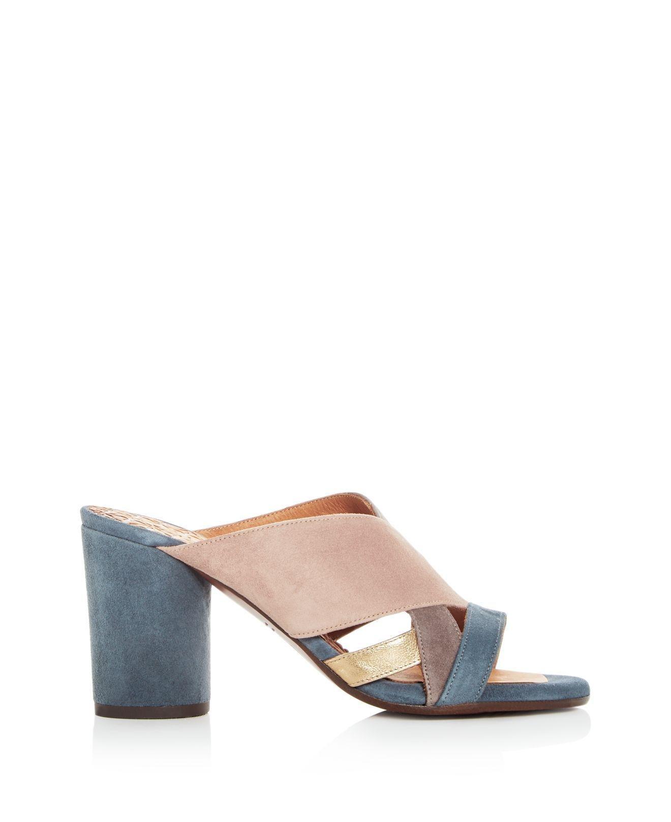 Chie Mihara Women's Uni Suede Round Block Heel Slide Sandals - 100% Exclusive CqFegBpGl