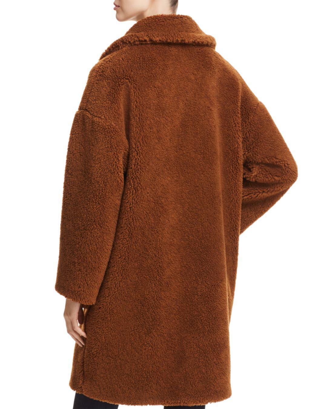 2969314d4 Lyst - Weekend by Maxmara Reale Faux-fur Teddy Bear Coat in Brown