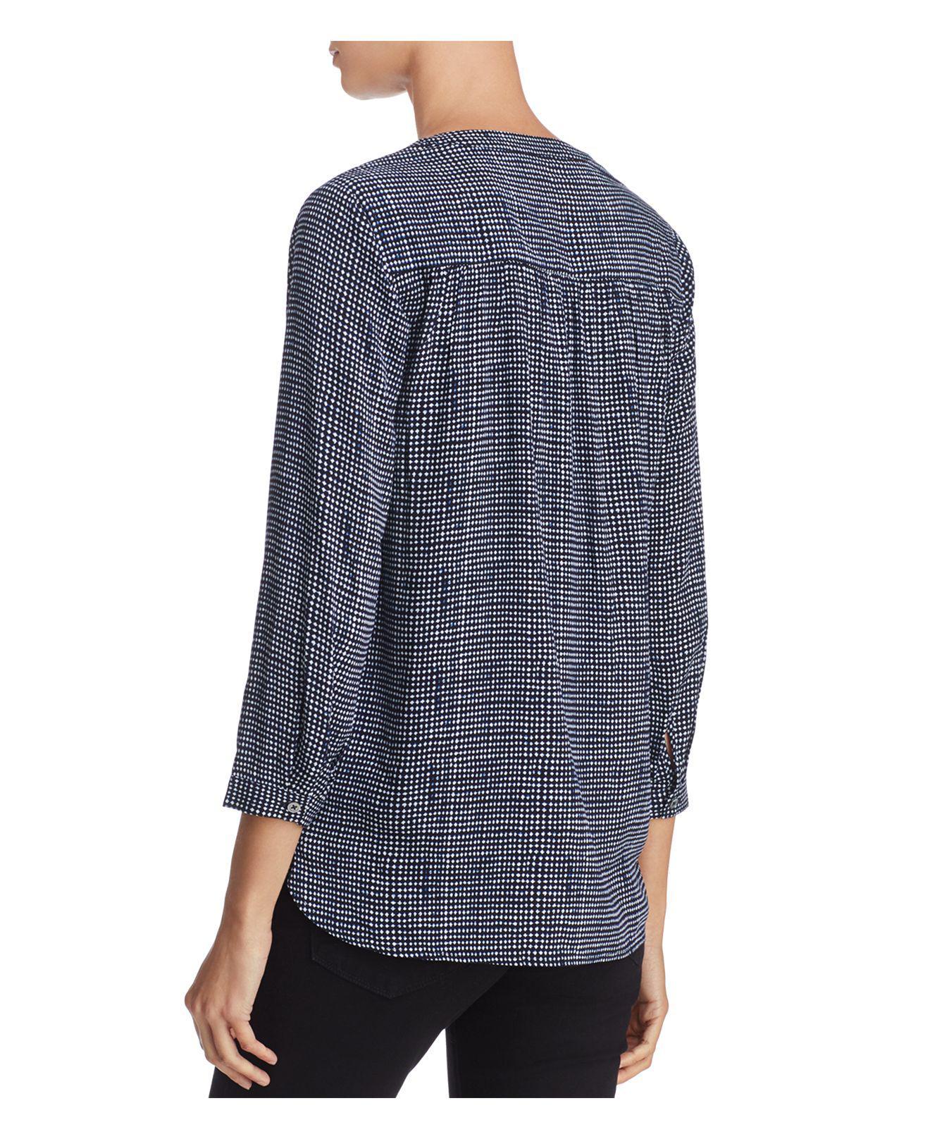 512130383733b Lyst - Soft Joie Rosalynn Diamond-shaped Pattern Top in Blue
