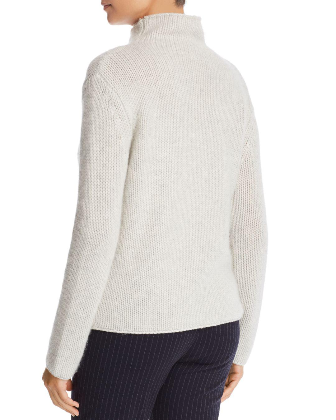 c521c672cc Lyst - Majestic Filatures Cashmere Mock-neck Sweater in White