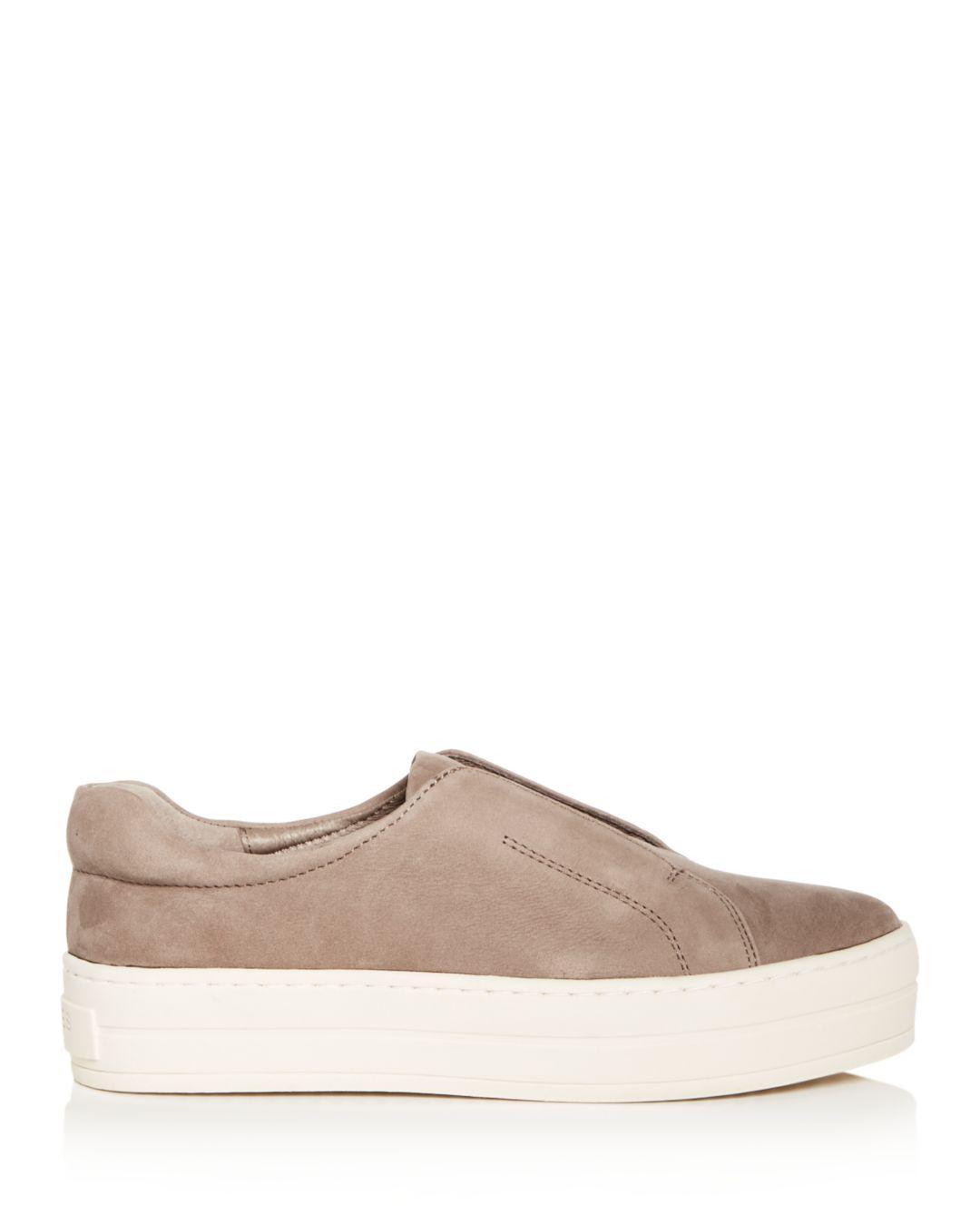 285900e286d28 J/Slides Women's Heidi Leather Slip-on Platform Sneakers in Brown - Save  5.882352941176464% - Lyst