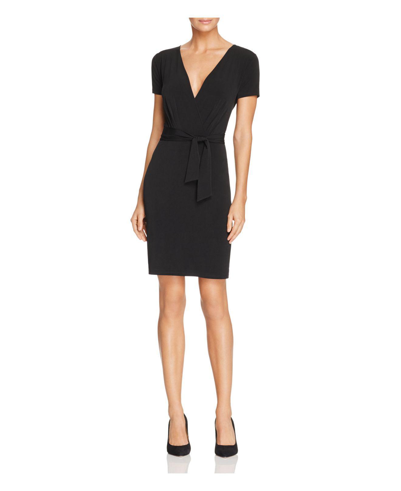5ae9274dc23d6 Lyst - T Tahari Trish Faux Wrap Dress in Black