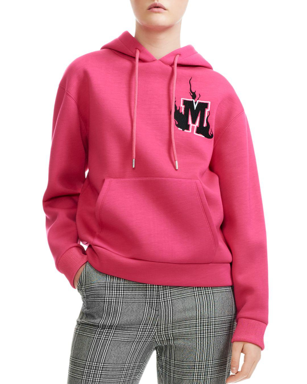b808901963 Lyst - Maje Trinita Logo Graphic Hoodie in Pink