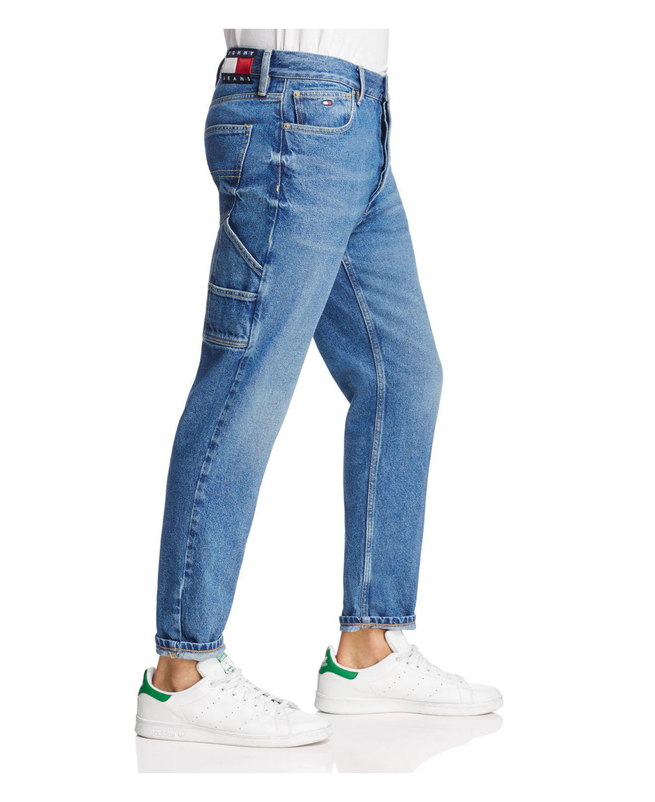 1371832f Tommy Hilfiger Tapered Fit Carpenter Jeans In Dark Wash in Blue for ...