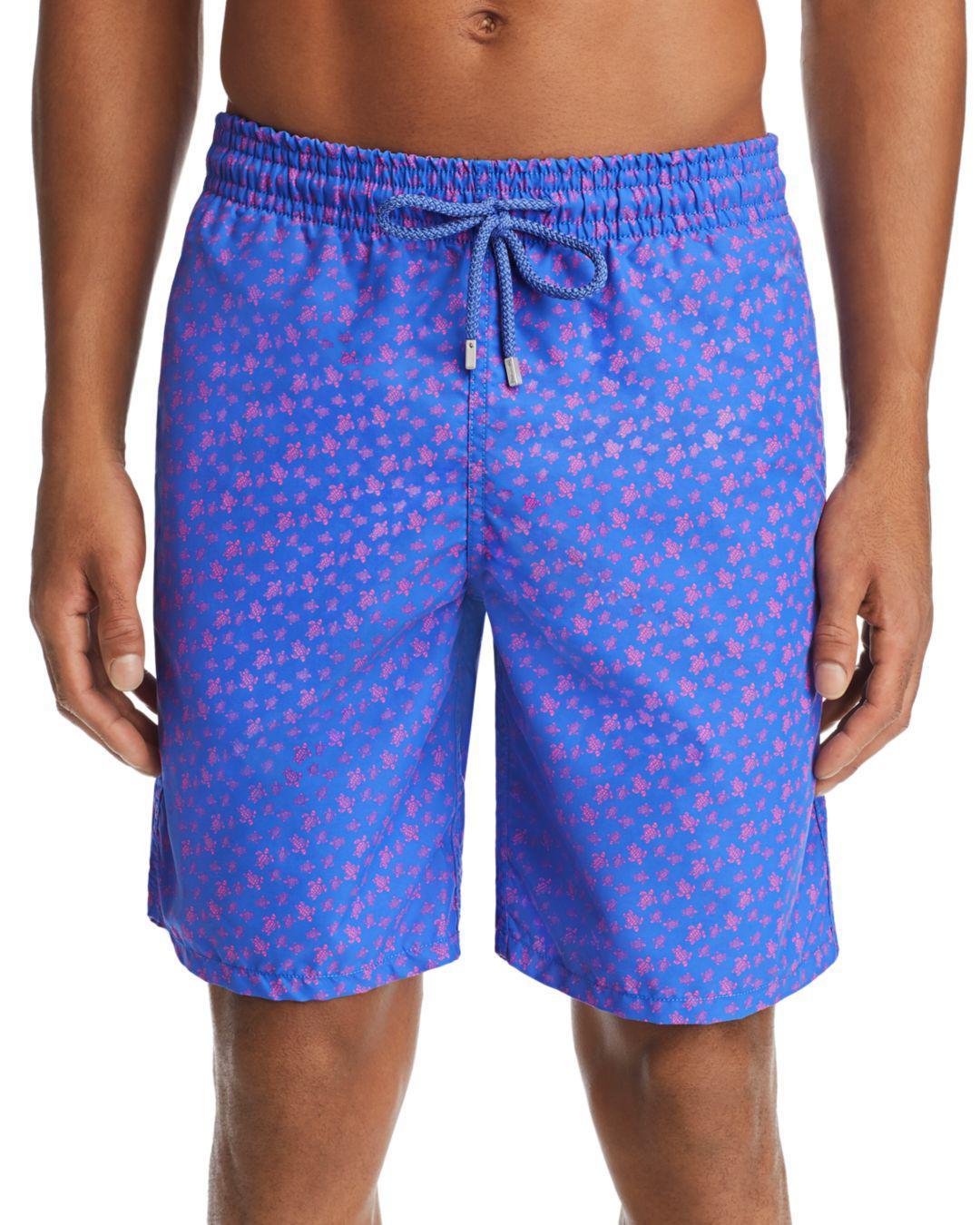 04d3651397 Vilebrequin Okoa Oko Turtle-print Swim Trunks in Blue for Men - Lyst