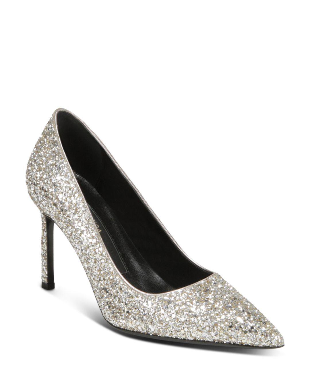 8bad3d349b4 Via Spiga Nikole 3 (silver Sand) Women s 1-2 Inch Heel Shoes in ...