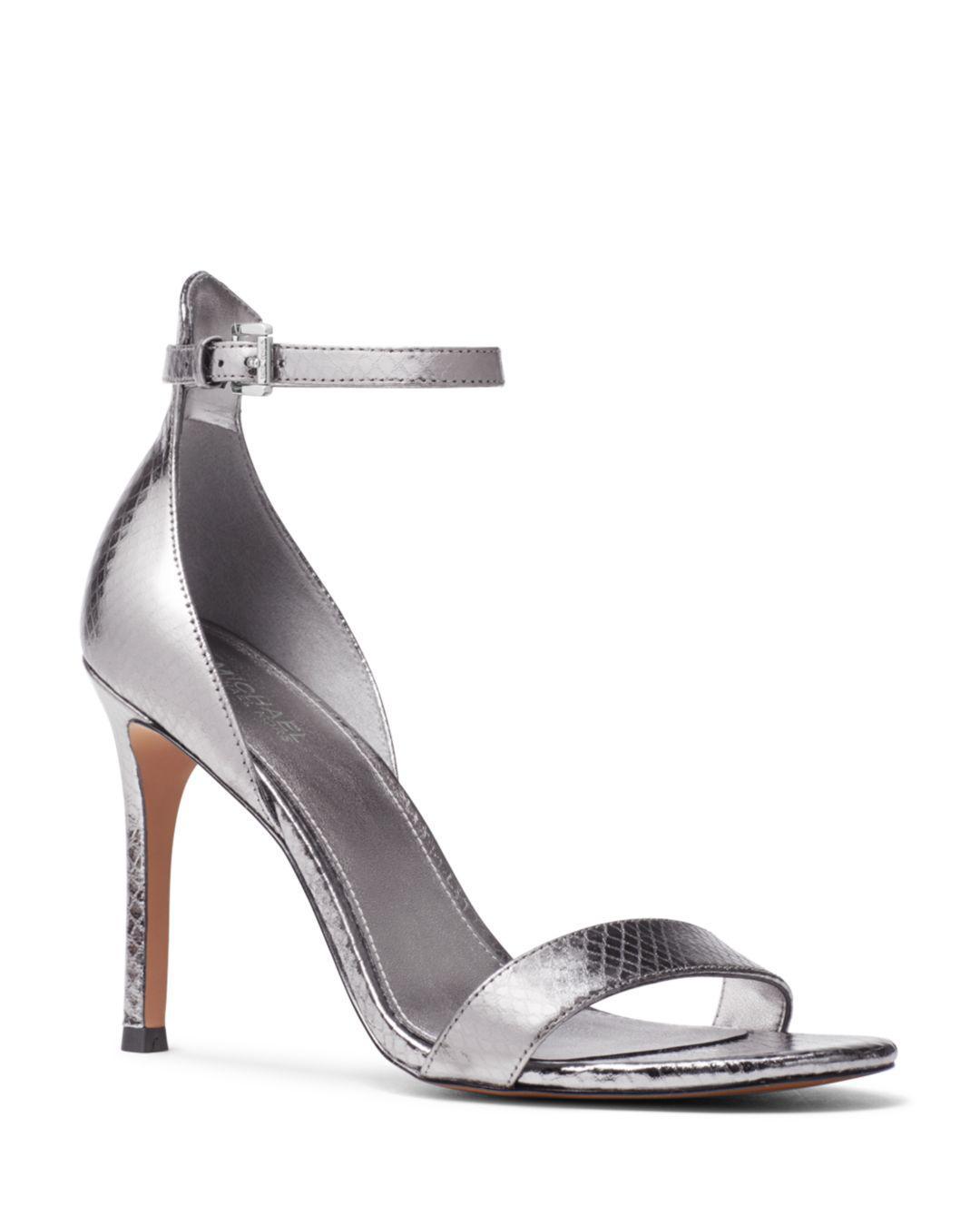8fac6b9bb807 Lyst - MICHAEL Michael Kors Women s Harper High-heel Sandals in Metallic