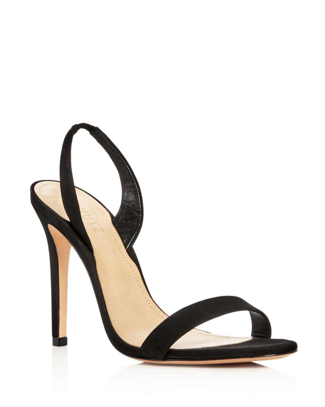bb7498cb16bf Lyst - Schutz Women s Luriane Slingback High-heel Sandals in Black