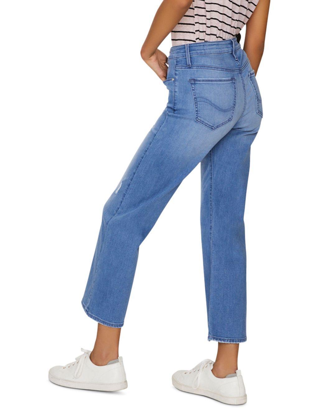 8f8aff41 Sanctuary - Non Conformist Cropped Wide - Leg Jeans In Solano Blue - Lyst.  View fullscreen