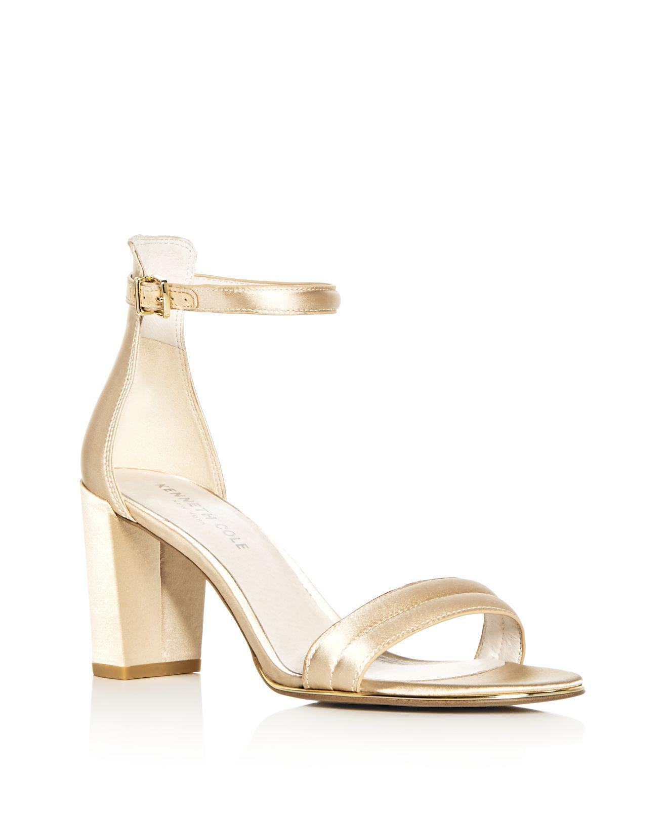 Kenneth Cole Women's Lex Satin High Block Heel Sandals 8pvmQz4