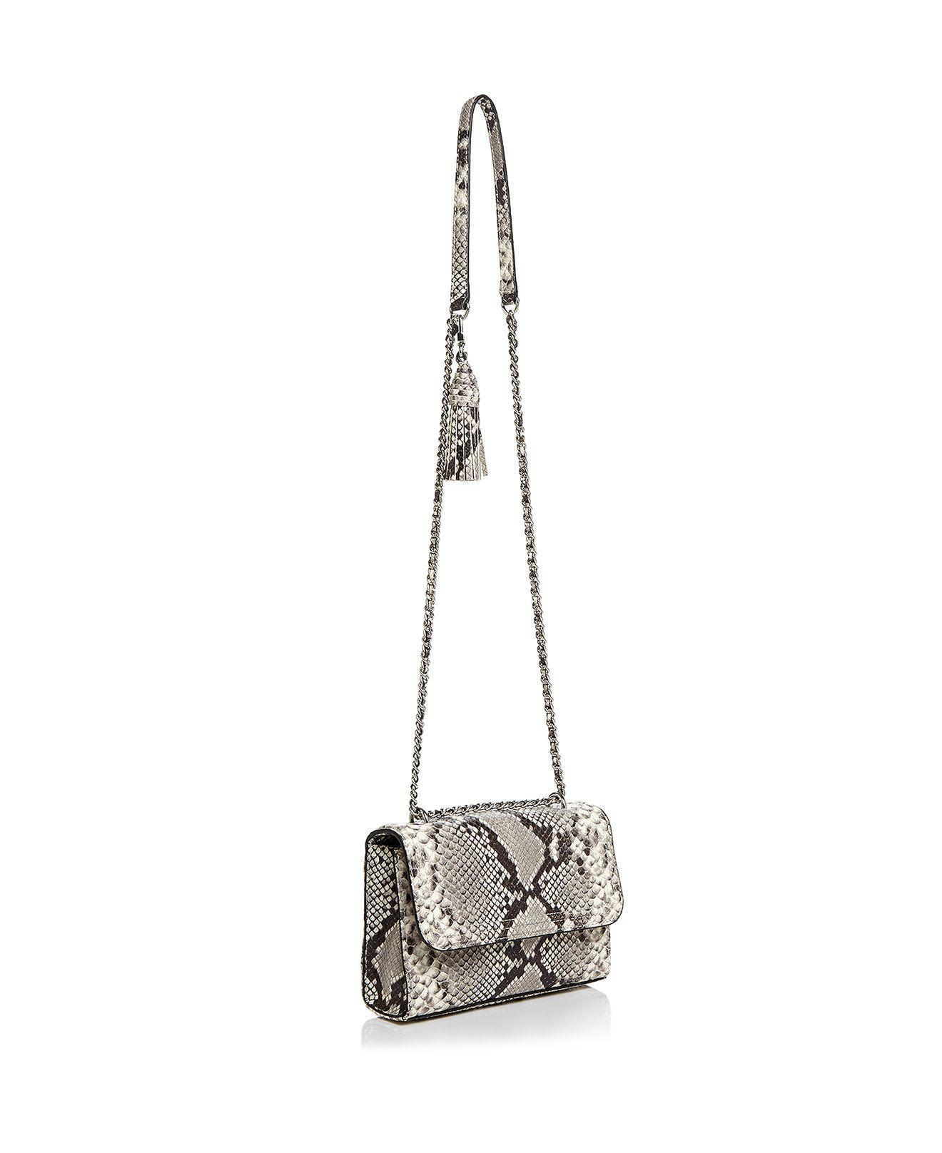 4b1f5c0377b9 ... where to buy lyst tory burch fleming snakeskin embossed leather small  e1154 cee5e
