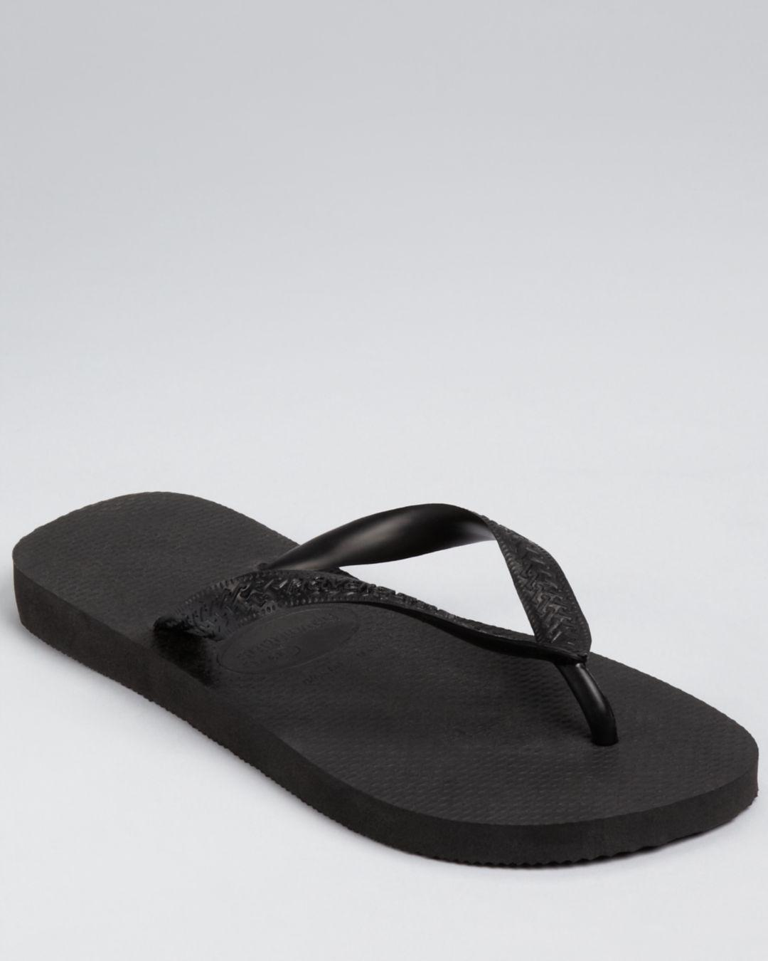 1fadf9fc2256 Lyst - Havaianas Men s Top Solid Sandals in Black for Men - Save 72%