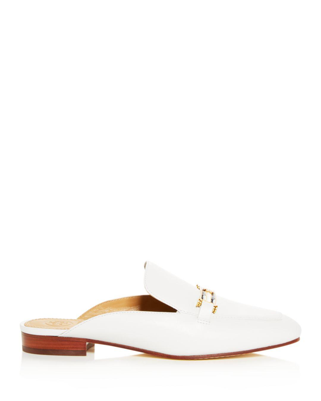 4ce4c2798a3 Lyst - Tory Burch Women s Amelia Leather Apron Toe Loafer Mules