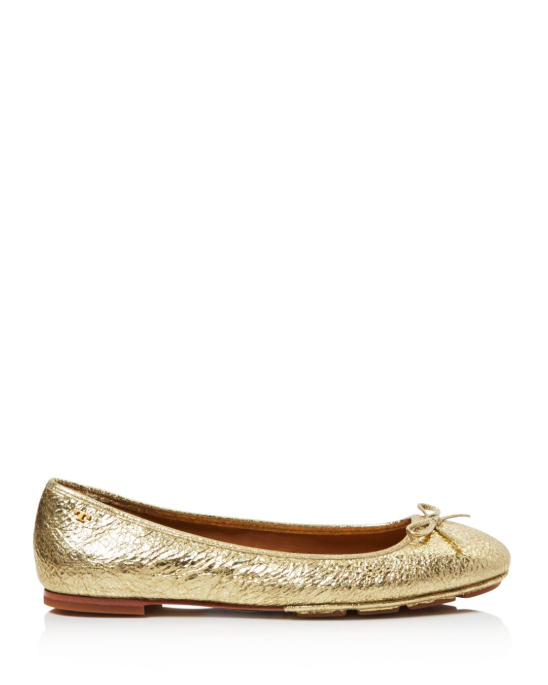 c4b39bde5 Tory Burch Women s Laila Leather Driver Ballet Flats - Save  34.14634146341463% - Lyst