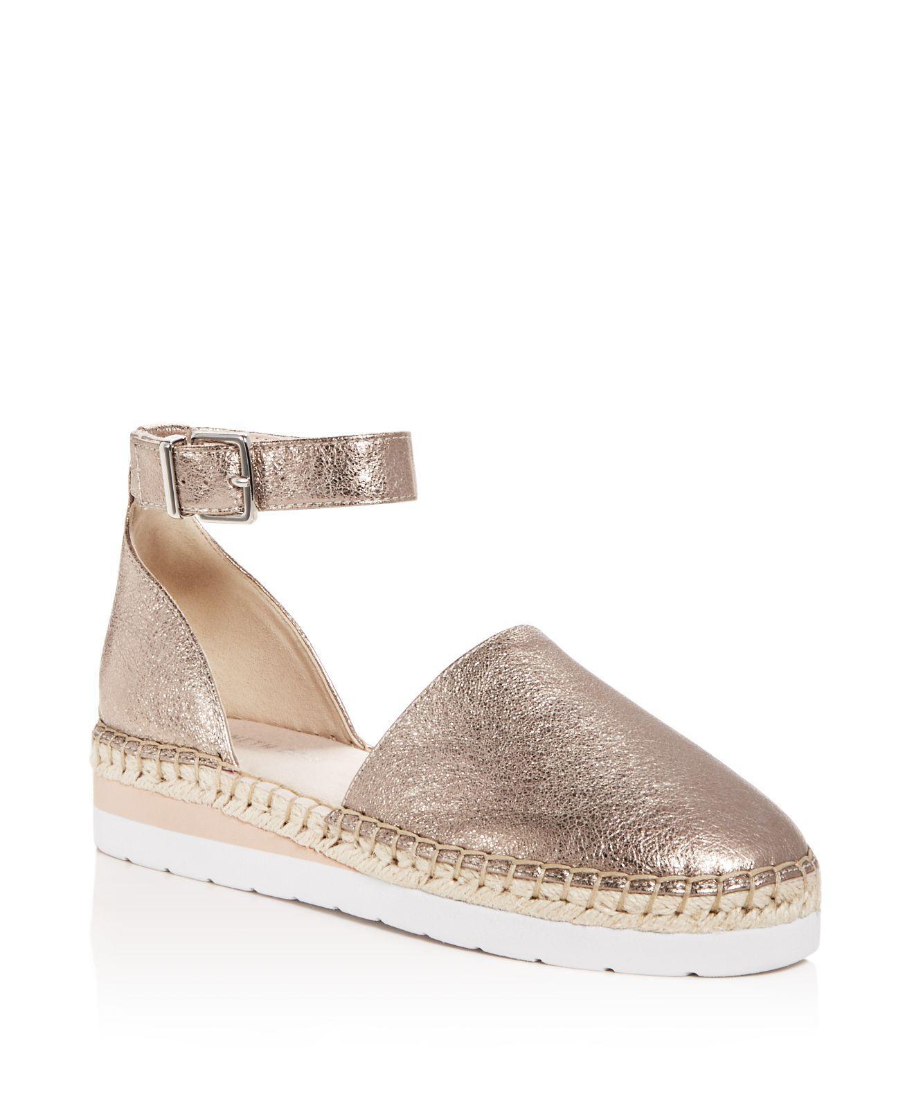 Kenneth Cole Women's Babbot Leather d'Orsay Espadrille Platform Sandals Lo72QtEoH