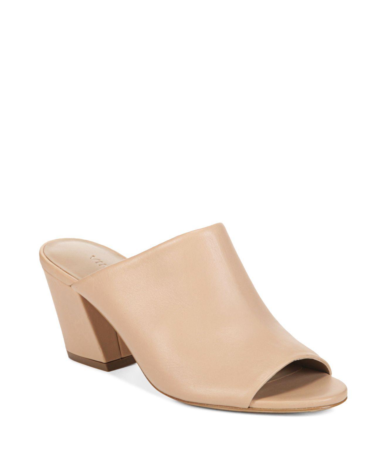 Vince Baldriz Leather Mule Sandal 82DQT