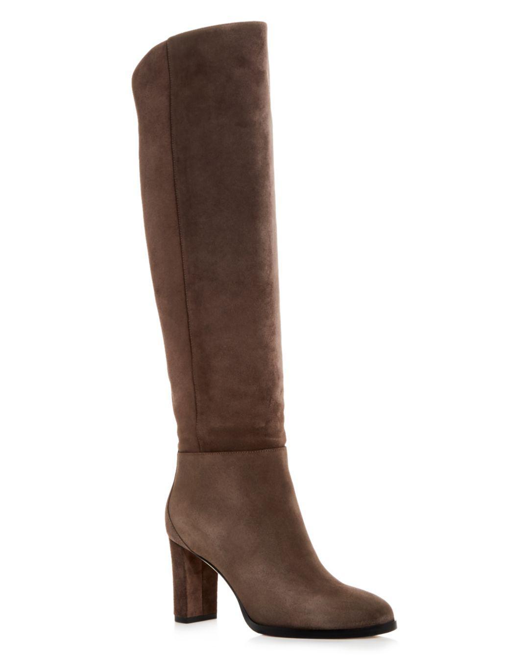569807c7a95 Lyst - Jimmy Choo Women s Madalie 80 High Block-heel Boots in Gray
