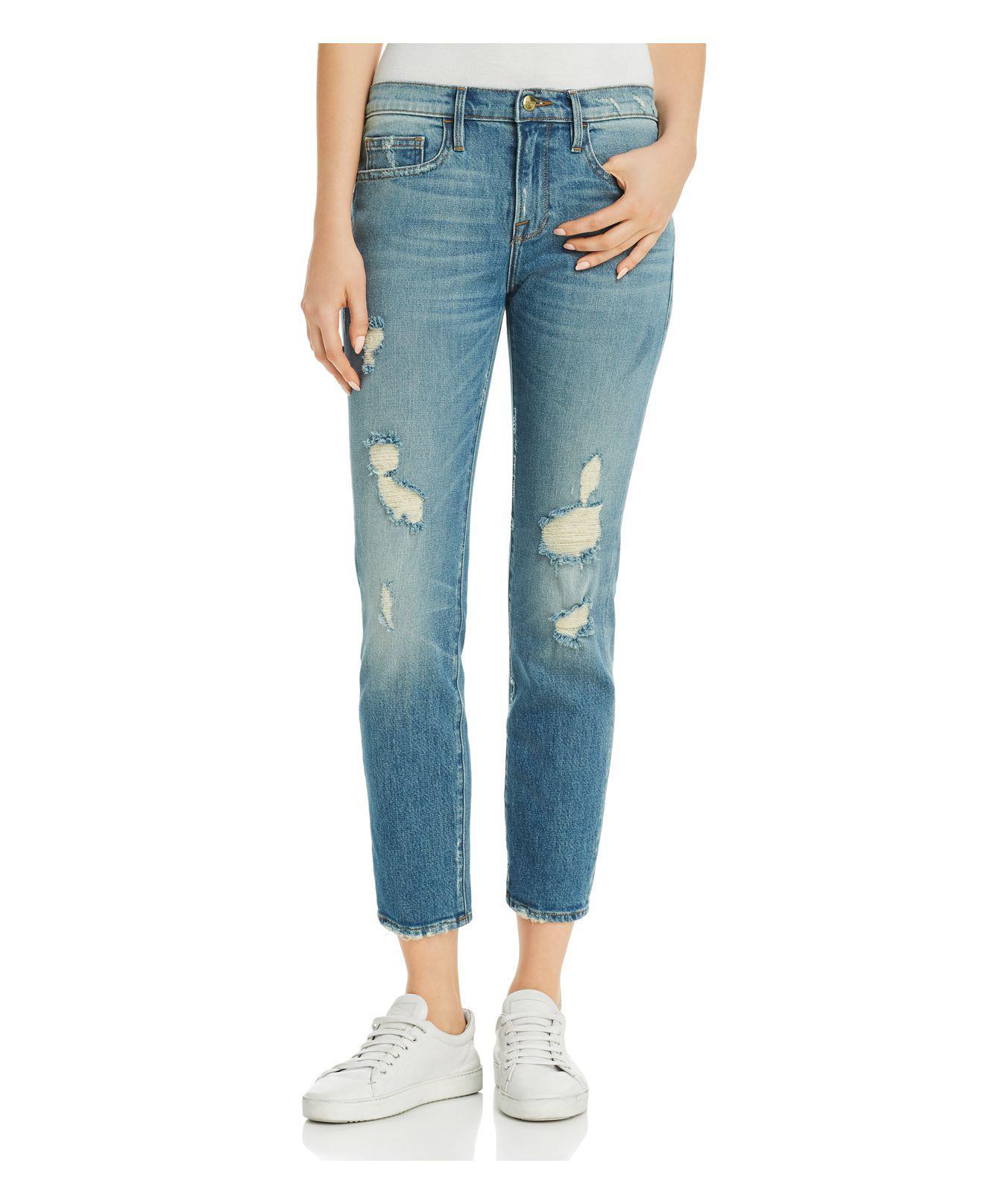 Le Boy Straight Leg Jeans - Blue Frame Denim zXT5408