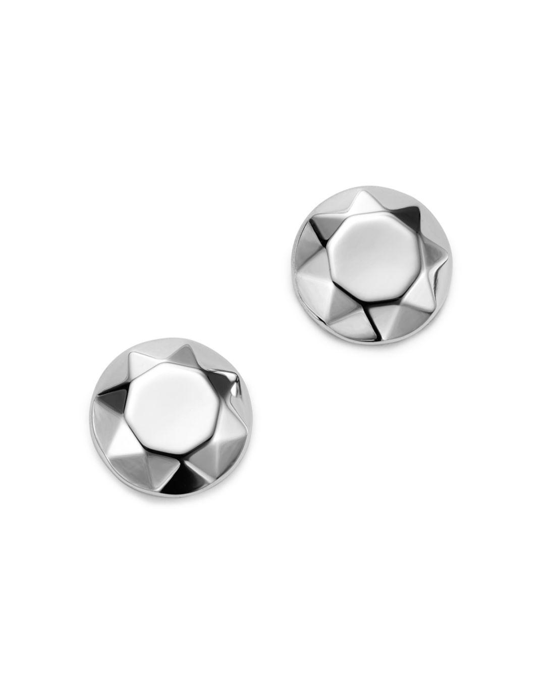 ec0a2d2f7 Lyst - Bloomingdale's Faceted Dome Earrings In 14k White Gold in White