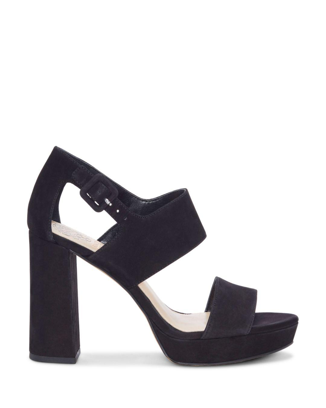 fb13a1b9d1d0 Lyst - Vince Camuto Women s Jayvid Suede Platform Sandals in Black - Save  7.936507936507937%