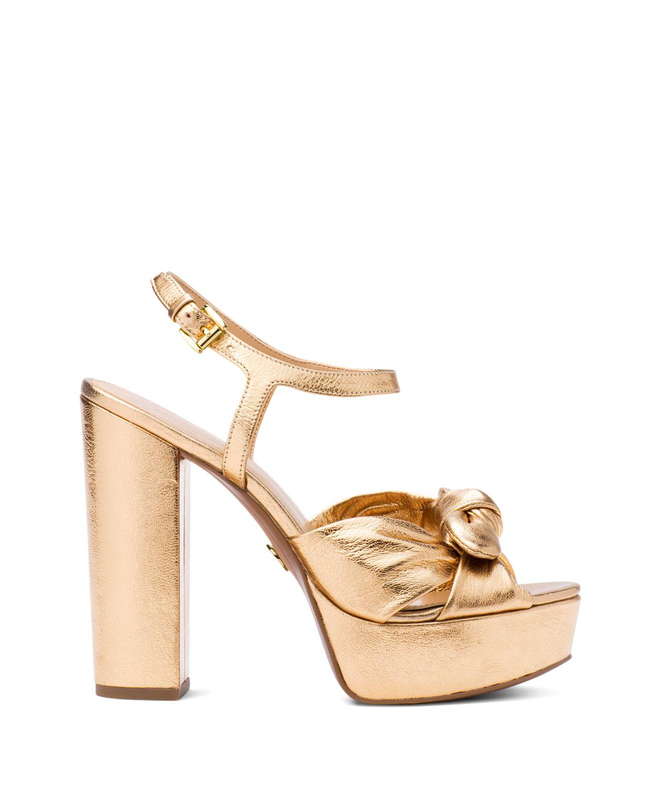 Michael Kors Women's Pippa Leather Platform High-Heel Sandals W53OR