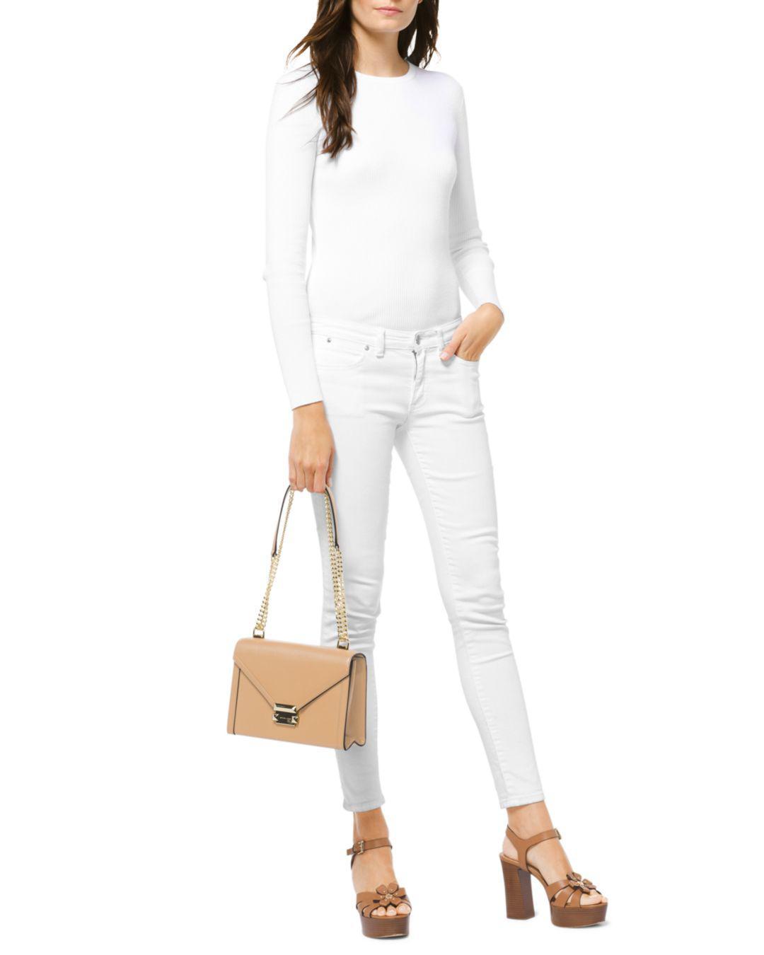 6058f71b27c9 MICHAEL Michael Kors Whitney Large Leather Shoulder Bag - Save 40% - Lyst