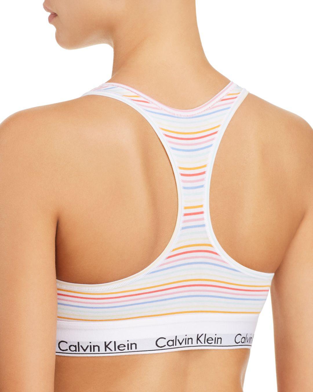 93e35e9258 Calvin Klein Modern Cotton Pride Bralette in White - Lyst
