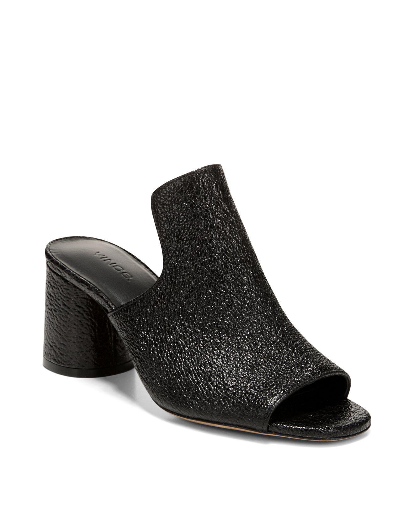 Vince Women's Tanay Suede High-Heel Slide Sandals 4opAlqt