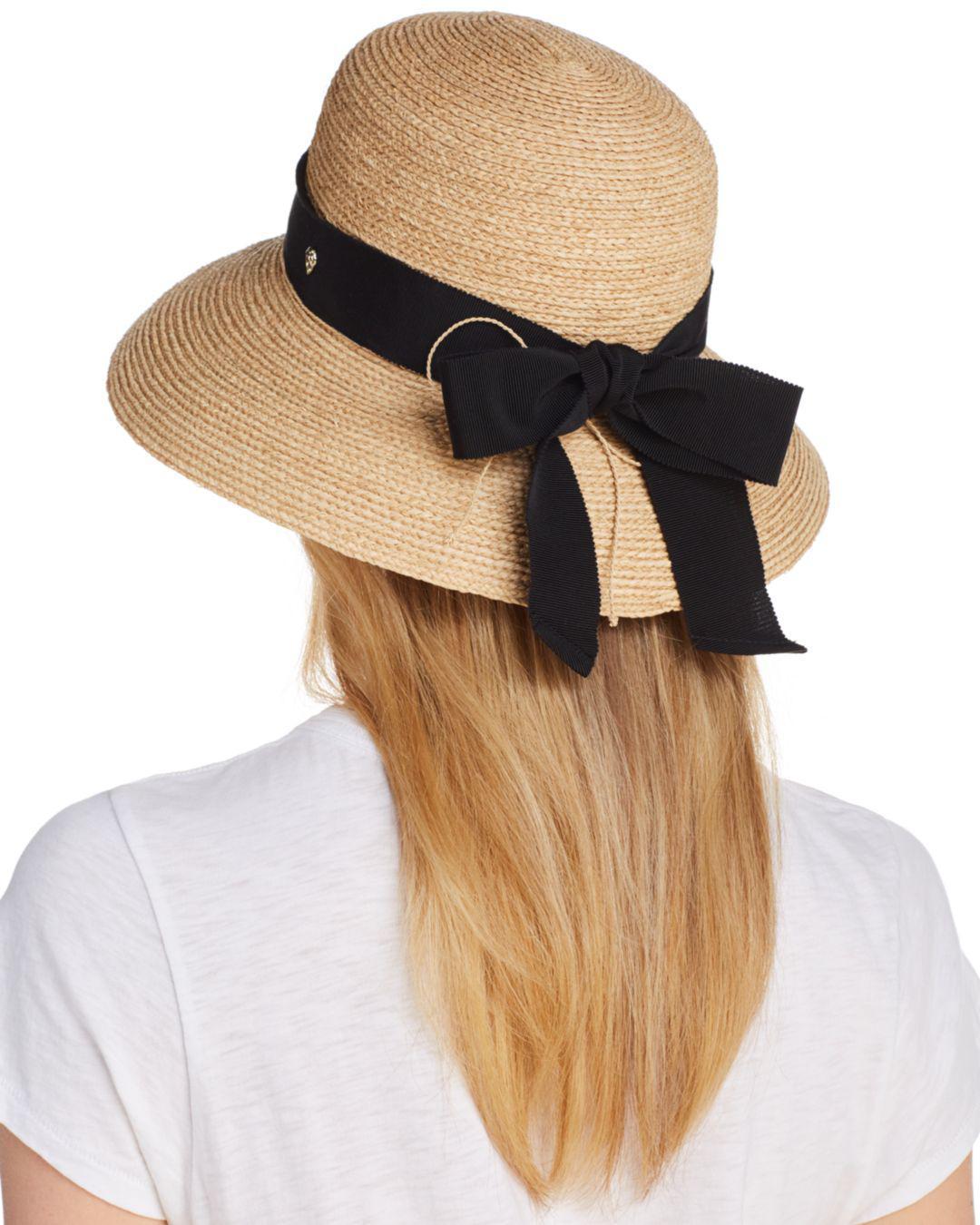 b469cf9579d Lyst - Helen Kaminski Newport Classic Standard Raffia Hat in Brown