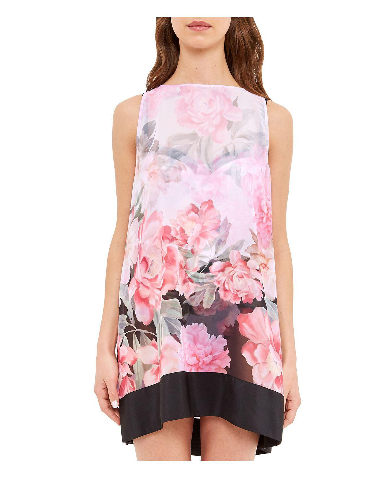 5bfa21ce54 Ted Baker Adisonn Painted Posie Swim Cover-up in Pink - Lyst