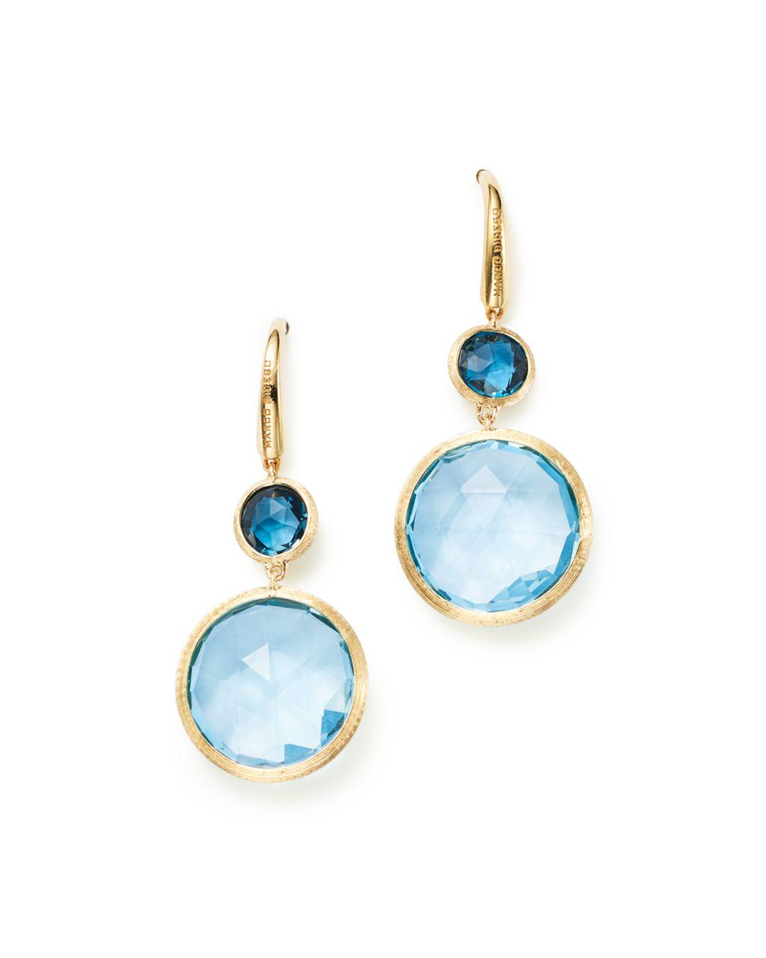 178a599fd148 Marco Bicego. Women s 18k Yellow Gold Jaipur Mixed Blue Topaz Drop Earrings