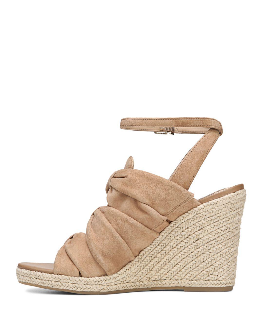 18656528d Lyst - Sam Edelman Women s Awan Suede Espadrille Wedge Sandals