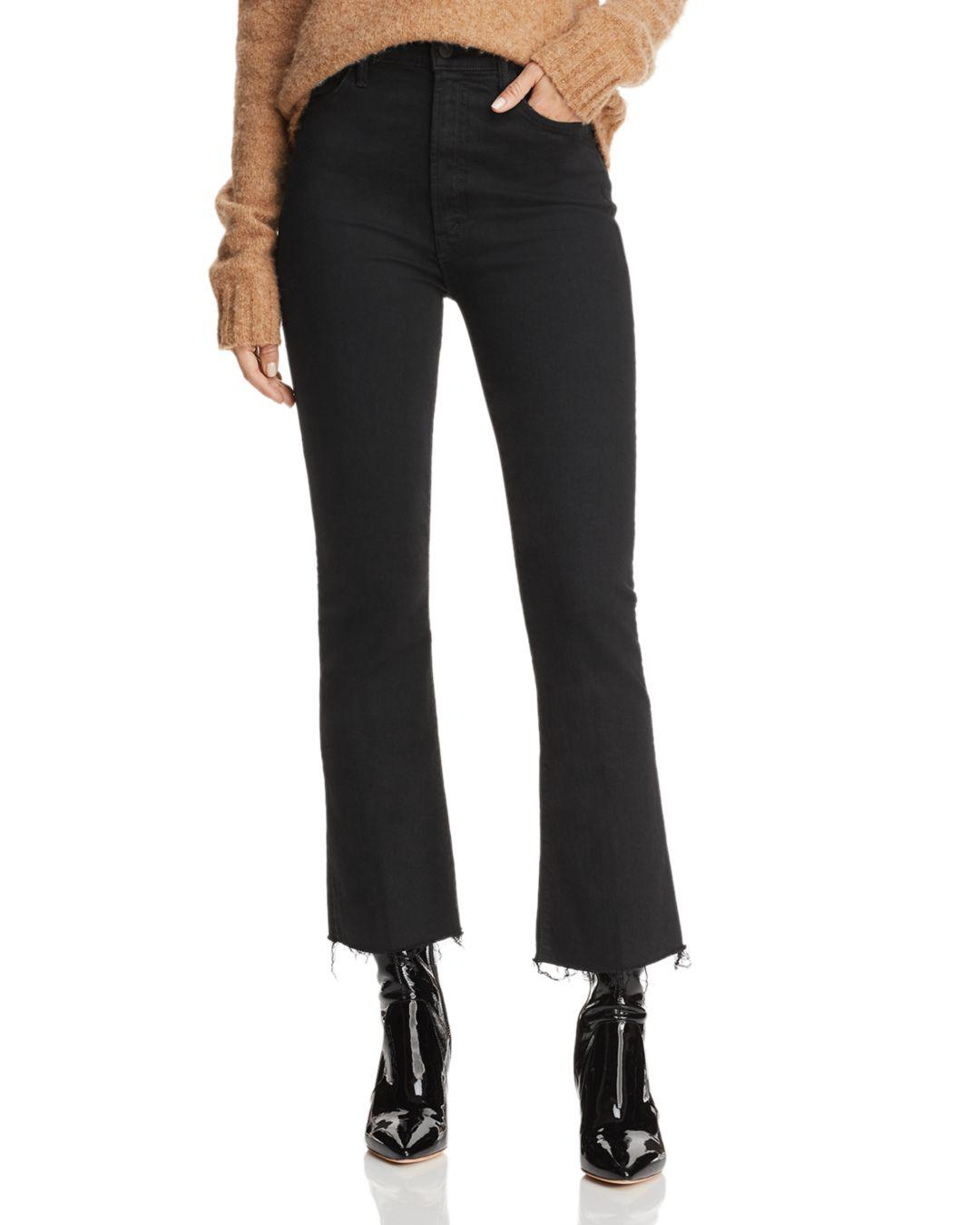 ee8555b54e8c0 Lyst - Mother Hustler Ankle Fray Bootcut Jeans In Not Guilty in Black