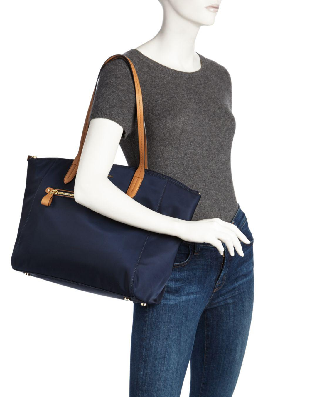 6211ae66e MICHAEL Michael Kors Kelsey Top Zip Large Nylon Tote in Blue - Save 48% -  Lyst