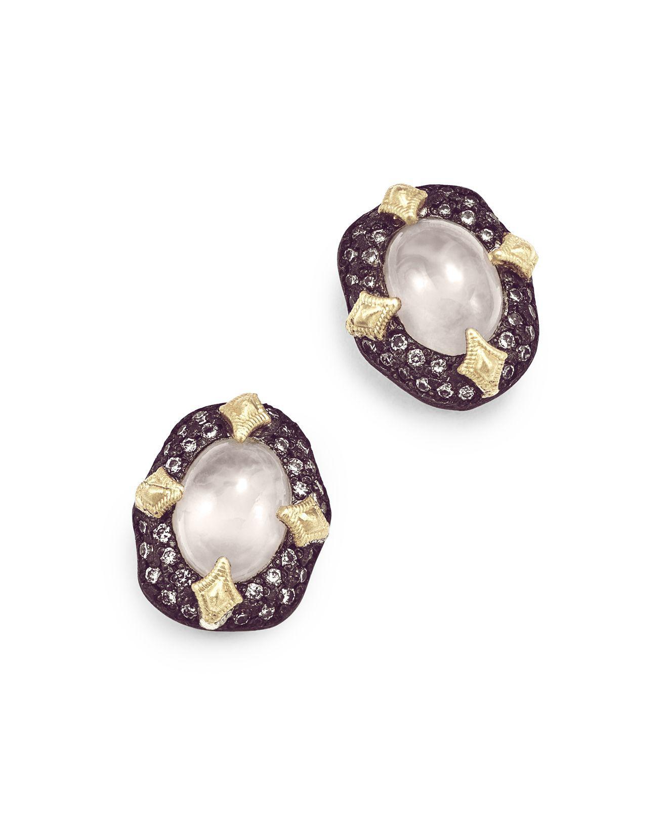 Armenta Old World 18k Starburst Aquaprase Stud Earrings 5iMLQg