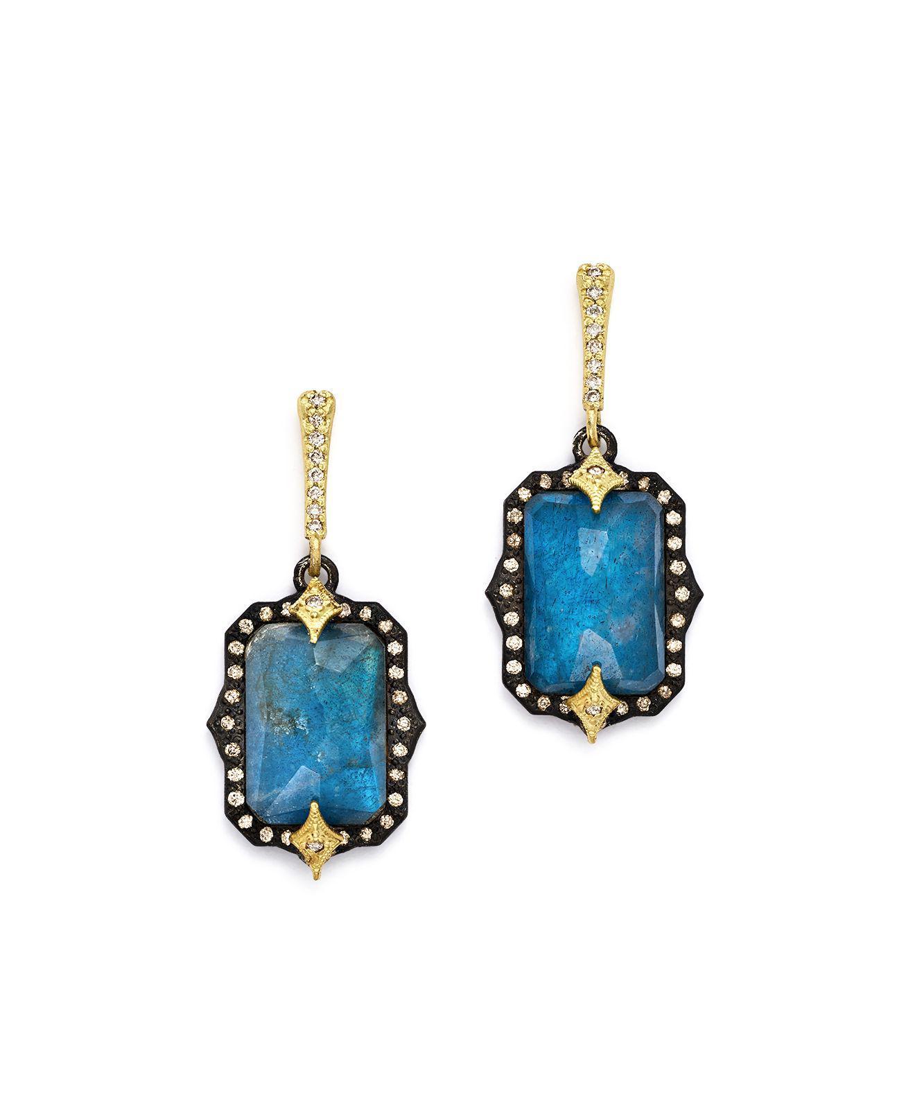 Armenta Emerald-Cut Triplet Drop Earrings w/ 18k Gold eRKQ7QwV